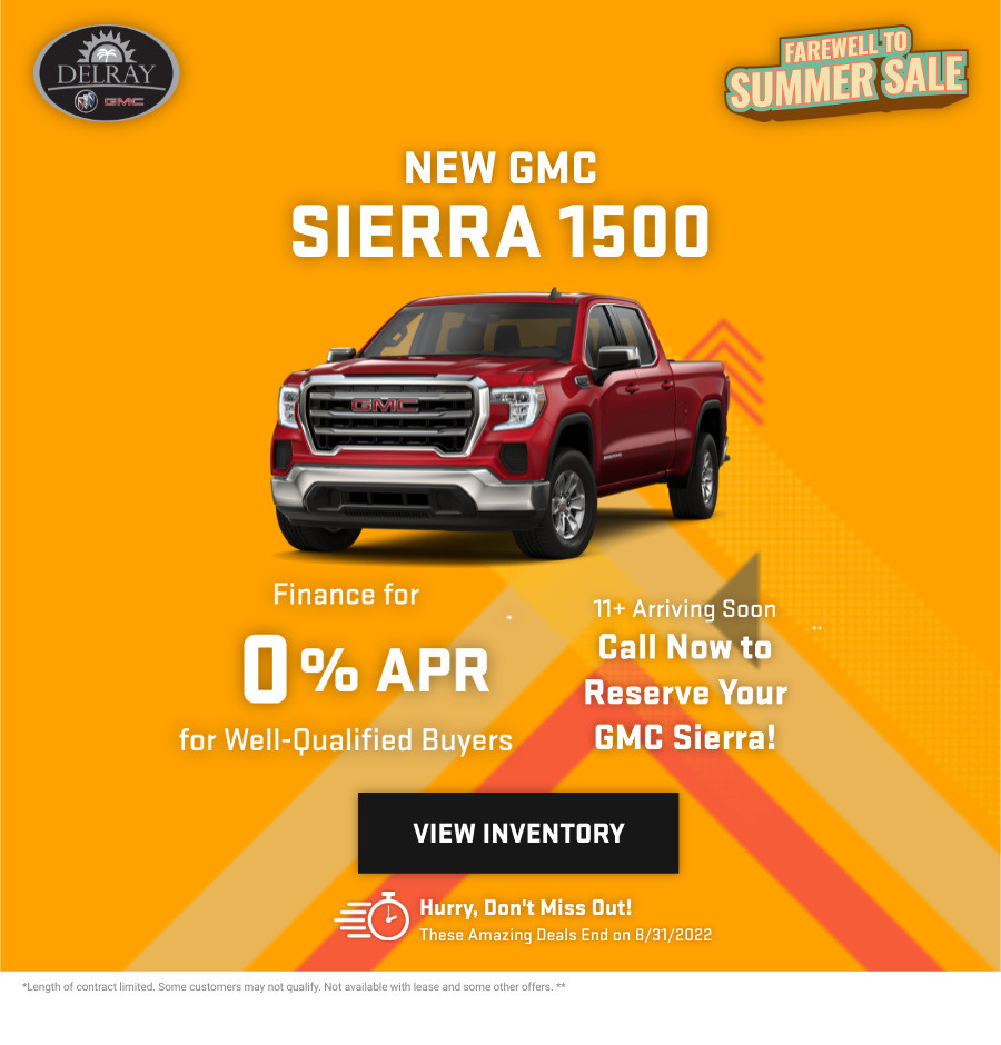 New GMC Sierra 1500 Current Deals and Offers in Delray Beach, FL