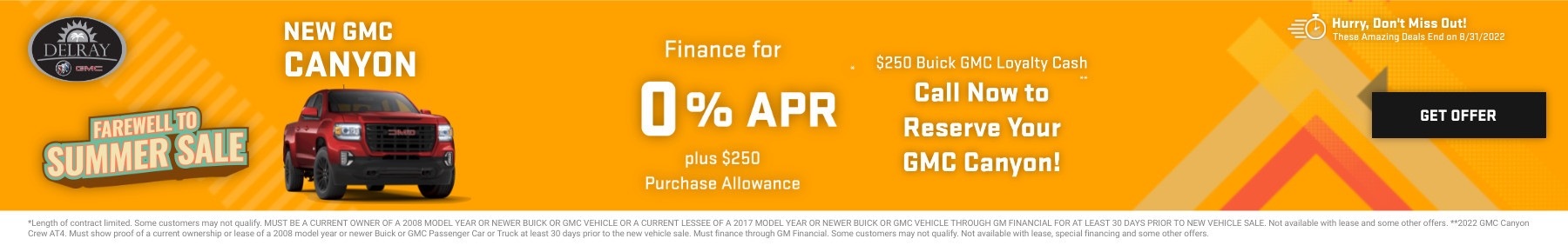 New GMC Canyon Current Deals and Offers in Delray Beach, FL