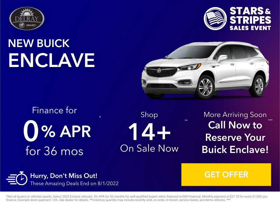 New Buick Enclave Current Deals and Offers in Delray Beach, FL