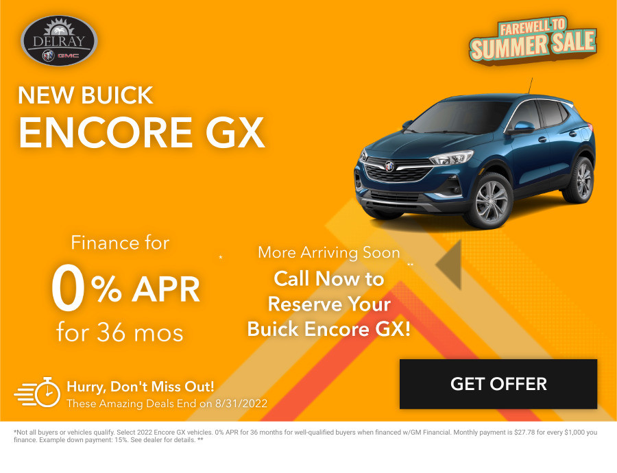 New Buick Encore GX Current Deals and Offers in Delray Beach, FL