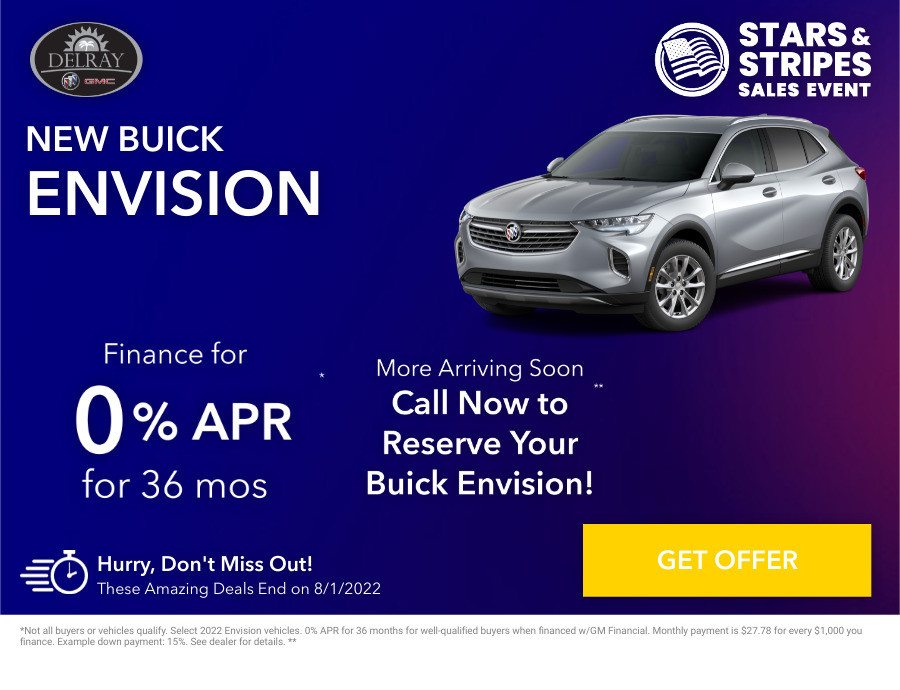 New Buick Envision Current Deals and Offers in Delray Beach, FL