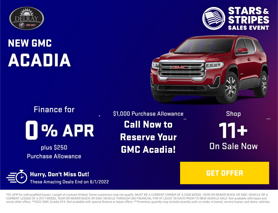 New GMC Acadia Current Deals and Offers in Delray Beach, FL