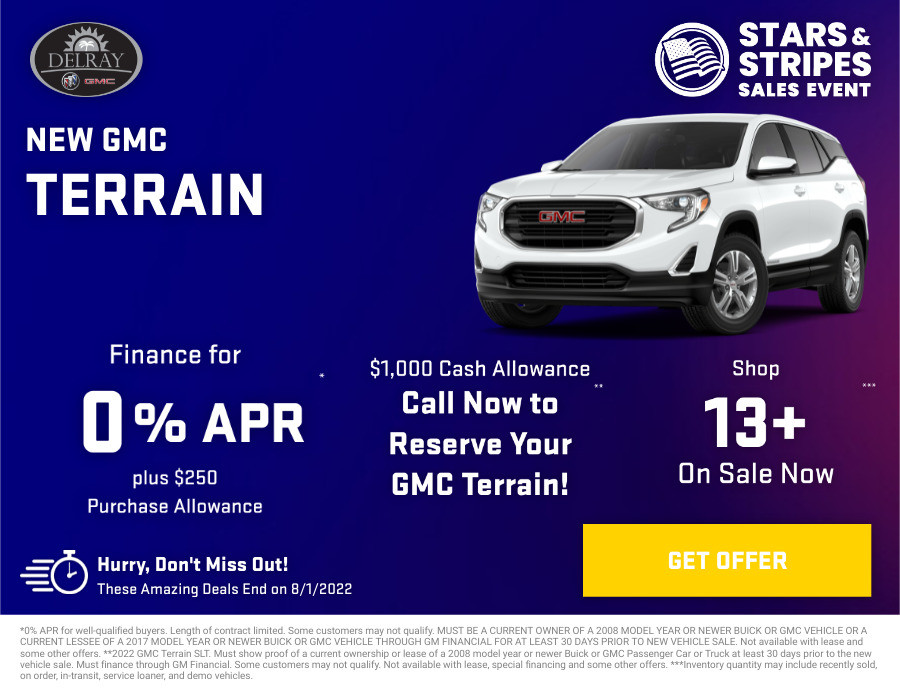 New GMC Terrain Current Deals and Offers in Delray Beach, FL