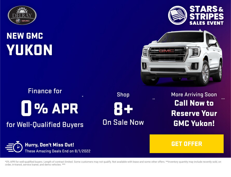 New GMC Yukon Current Deals and Offers in Delray Beach, FL