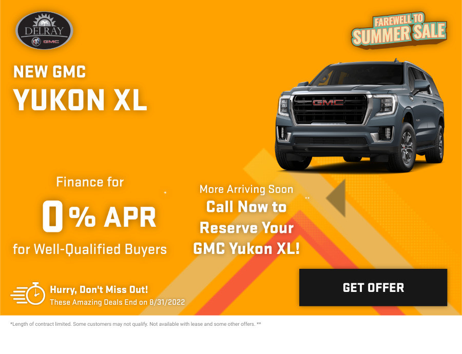 New GMC Yukon XL Current Deals and Offers in Delray Beach, FL
