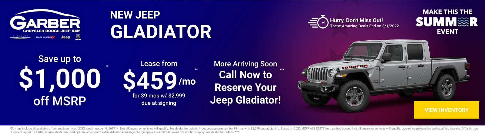 New Jeep Gladiator Current Deals and Offers in Green Cove Springs, FL