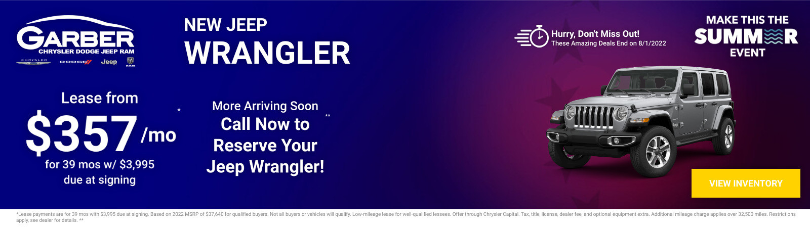 New Jeep Wrangler Current Deals and Offers in Green Cove Springs, FL