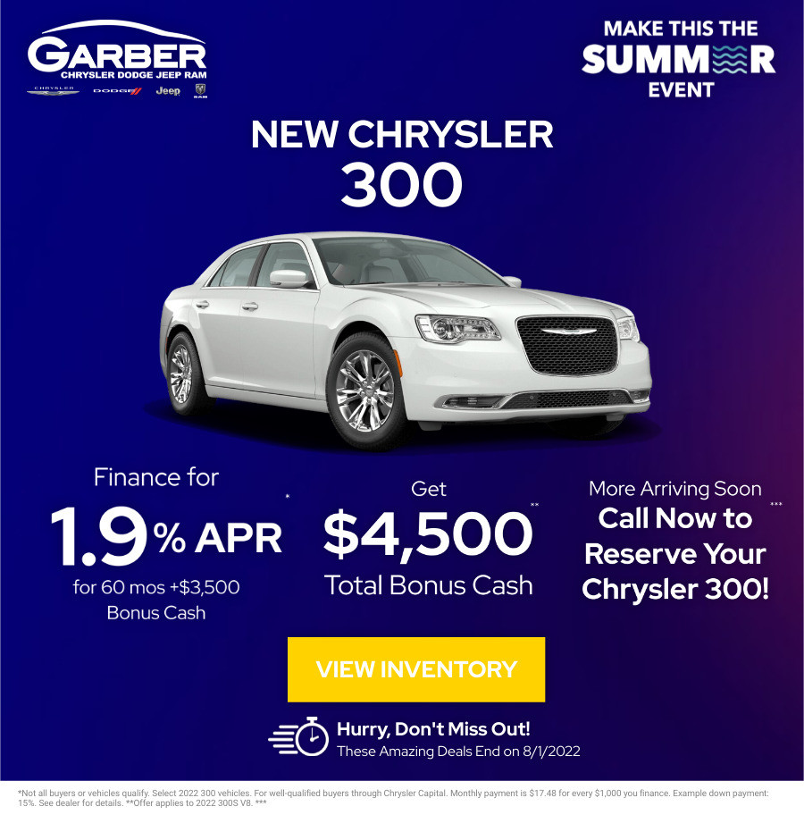 New Chrysler 300 Current Deals and Offers in Green Cove Springs, FL