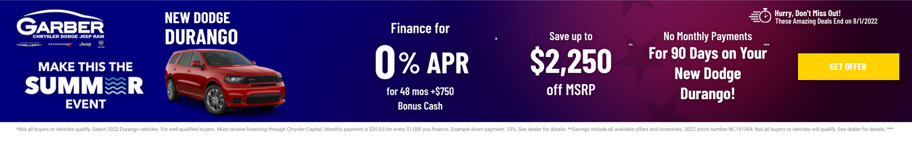 New Dodge Durango Current Deals and Offers in Green Cove Springs, FL