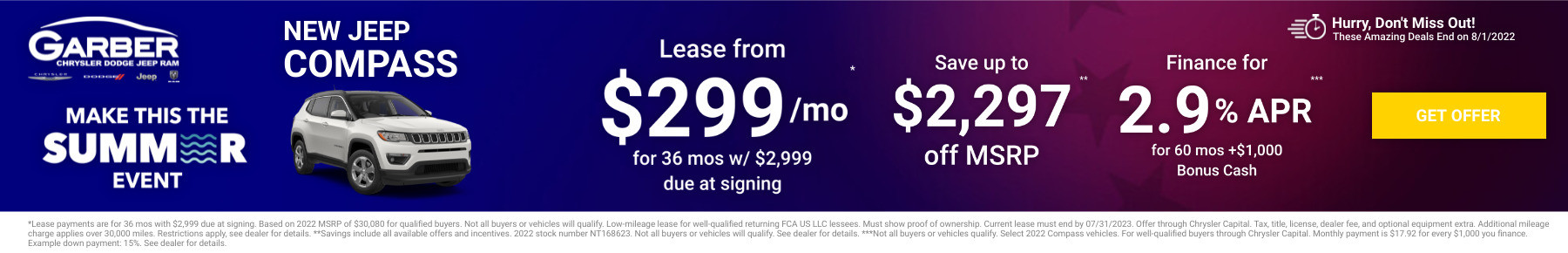 New Jeep Compass Current Deals and Offers in Green Cove Springs, FL