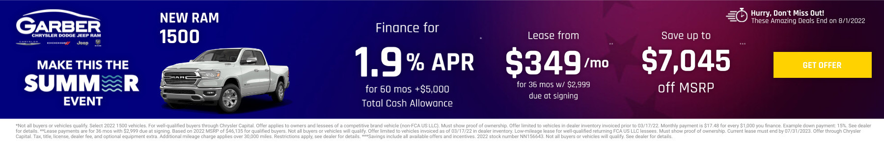 New RAM 1500 Current Deals and Offers in Green Cove Springs, FL