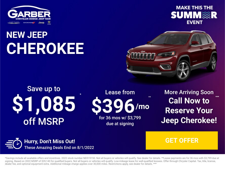 New Jeep Cherokee Current Deals and Offers in Green Cove Springs, FL