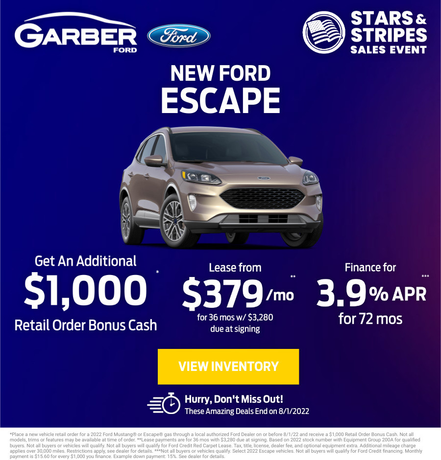 New Ford Escape Current Deals and Offers in Green Cove Springs, FL
