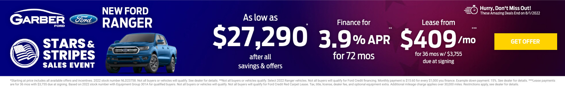 New Ford Ranger Current Deals and Offers in Orange Park, FL