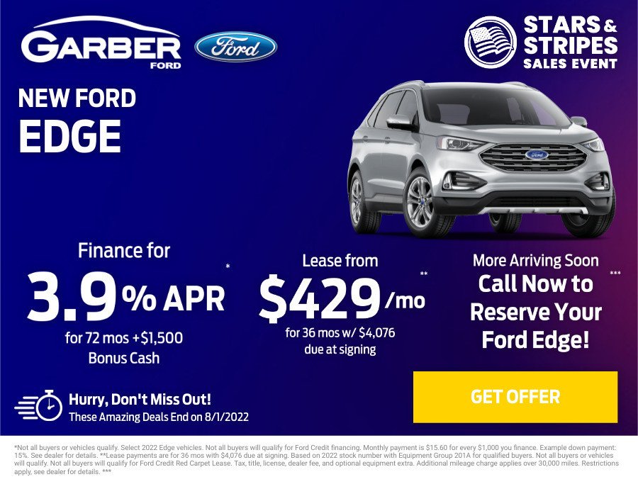 New Ford Edge Current Deals and Offers in Orange Park, FL