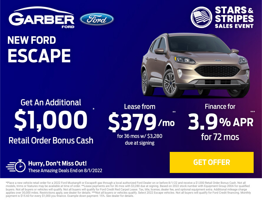 New Ford Escape Current Deals and Offers in Orange Park, FL