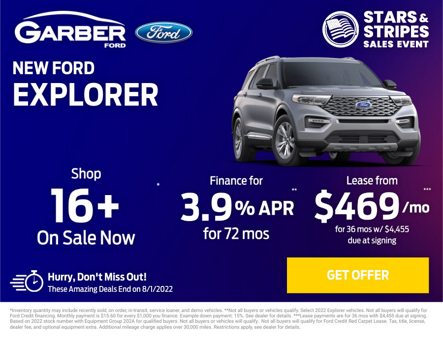 New Ford Explorer Current Deals and Offers in Orange Park, FL
