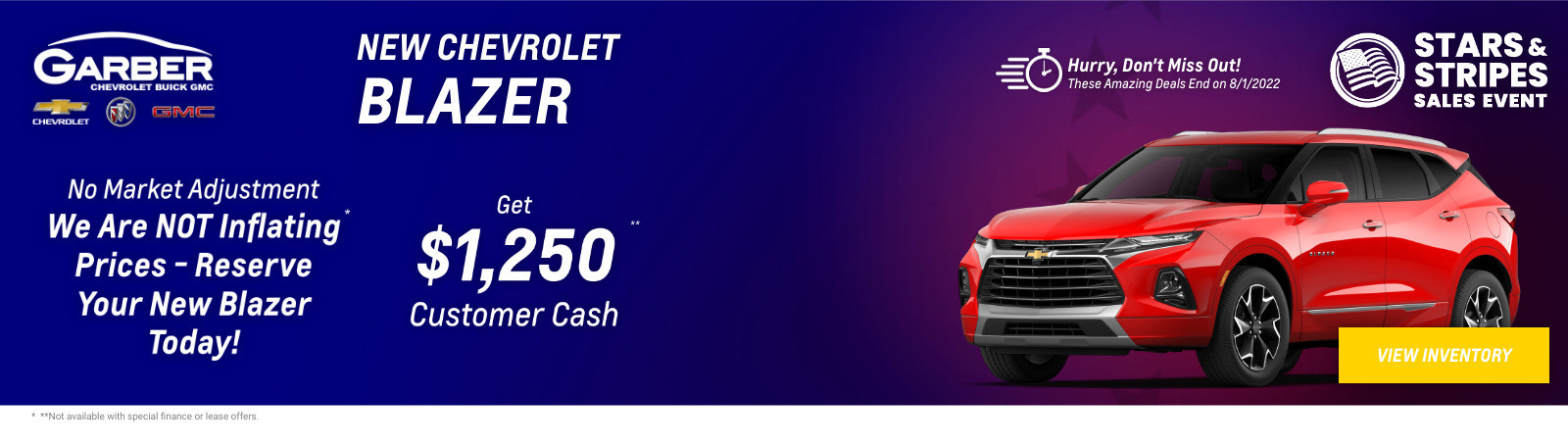 New Chevrolet Blazer Current Deals and Offers in Green Cove Springs, FL