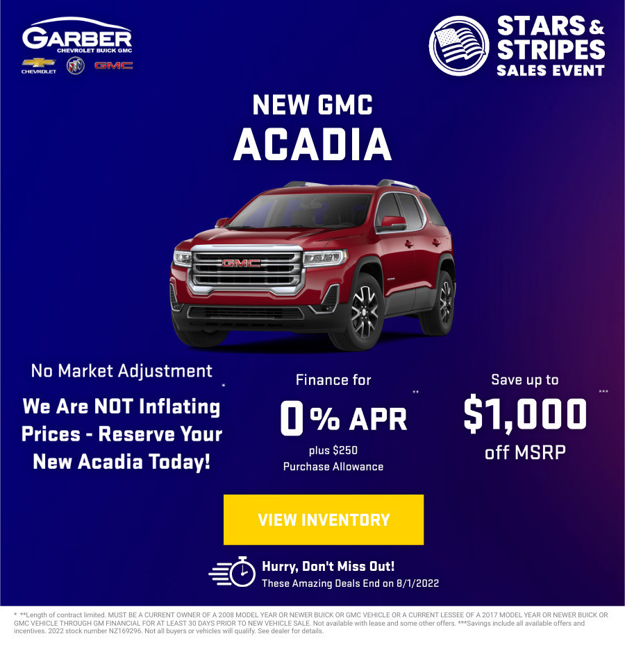 New GMC Acadia Current Deals and Offers in Green Cove Springs, FL