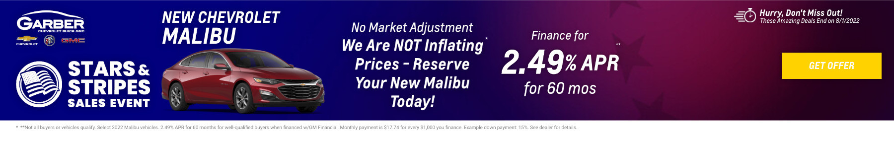 New Chevrolet Malibu Current Deals and Offers in Orange Park, FL