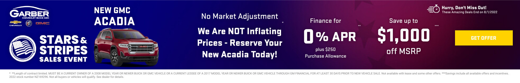 New GMC Acadia Current Deals and Offers in Orange Park, FL