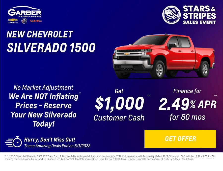 New Chevrolet Silverado-1500 Current Deals and Offers in Orange Park, FL
