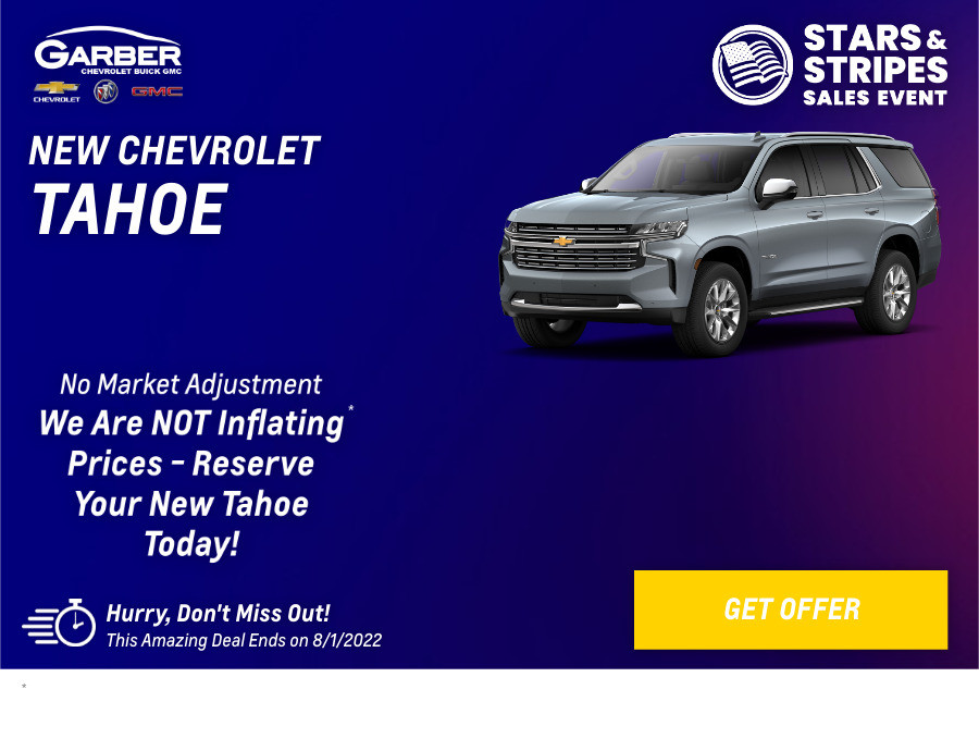 New Chevrolet Tahoe Current Deals and Offers in Orange Park, FL