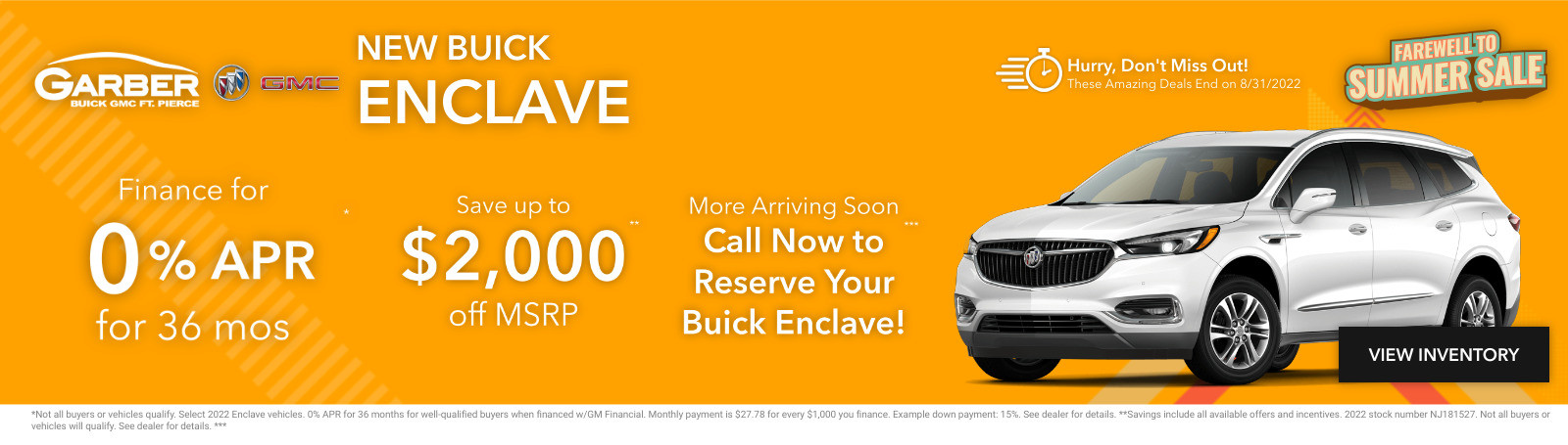 New Buick Enclave Current Deals and Offers in Fort Pierce, FL