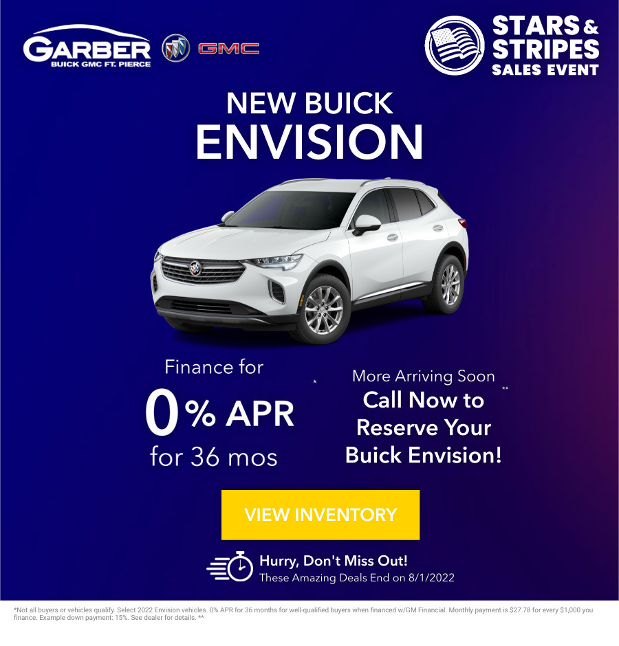 New Buick Envision Current Deals and Offers in Fort Pierce, FL