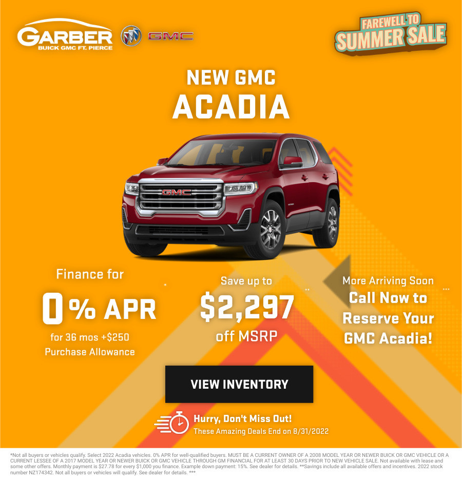 New GMC Acadia Current Deals and Offers in Fort Pierce, FL