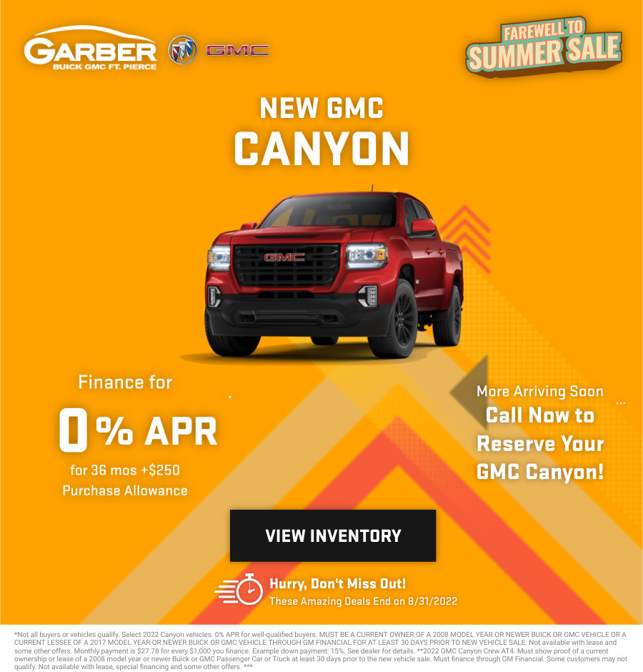 New GMC Canyon Current Deals and Offers in Fort Pierce, FL