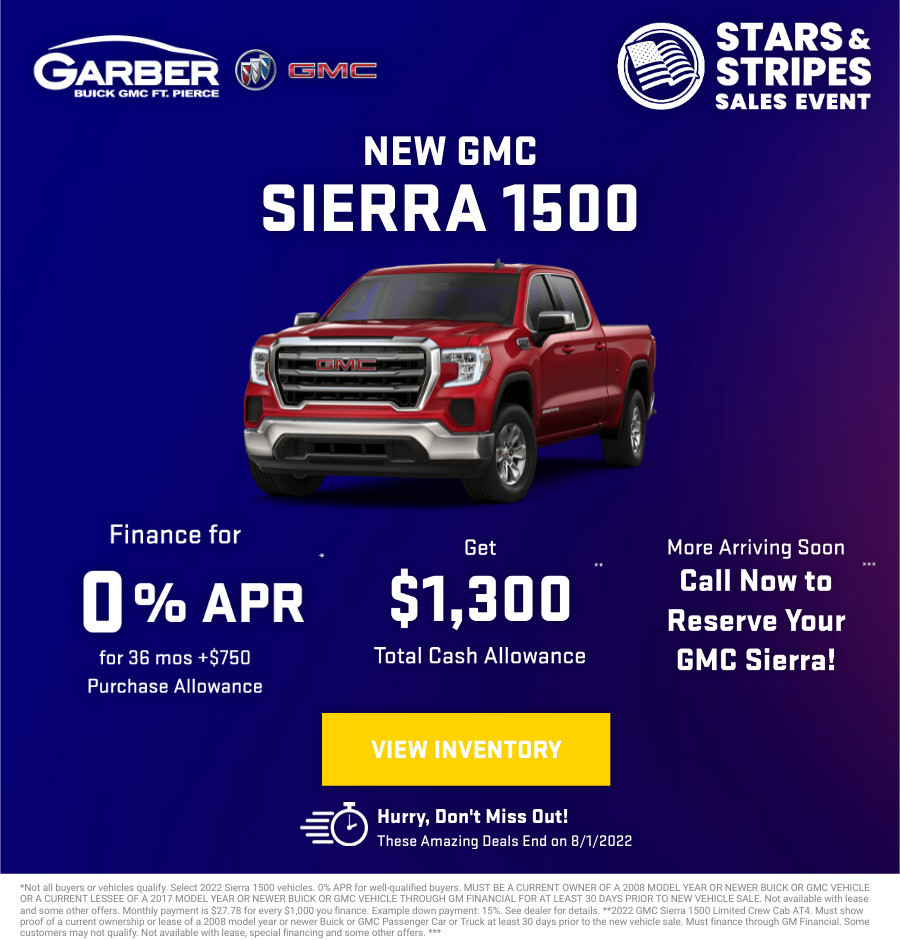 New GMC Sierra 1500 Current Deals and Offers in Fort Pierce, FL