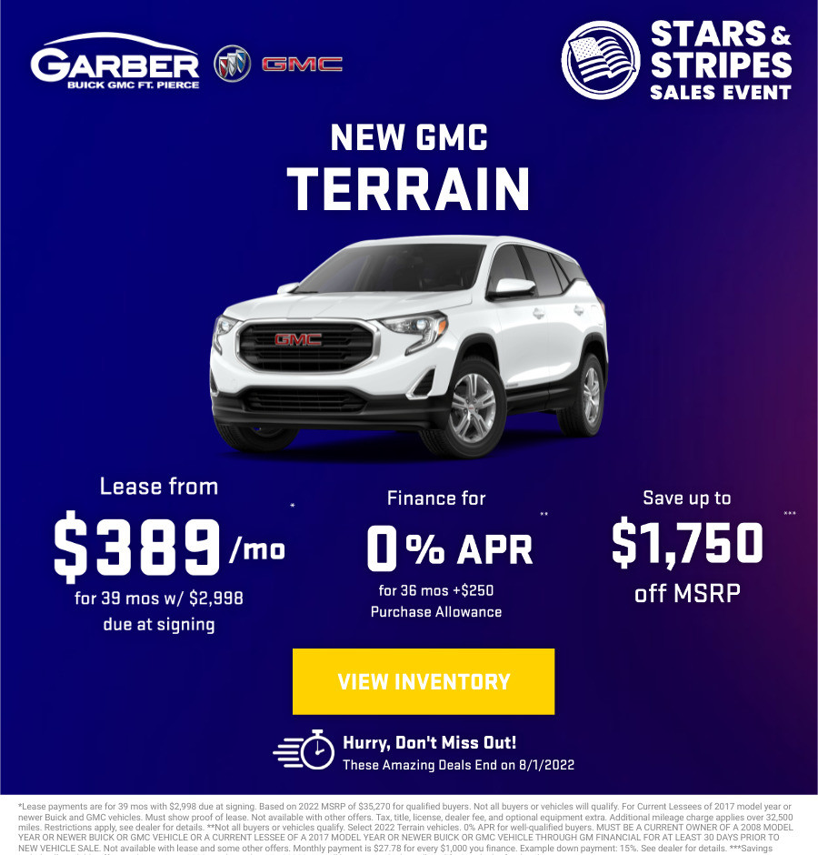 New GMC Terrain Current Deals and Offers in Fort Pierce, FL
