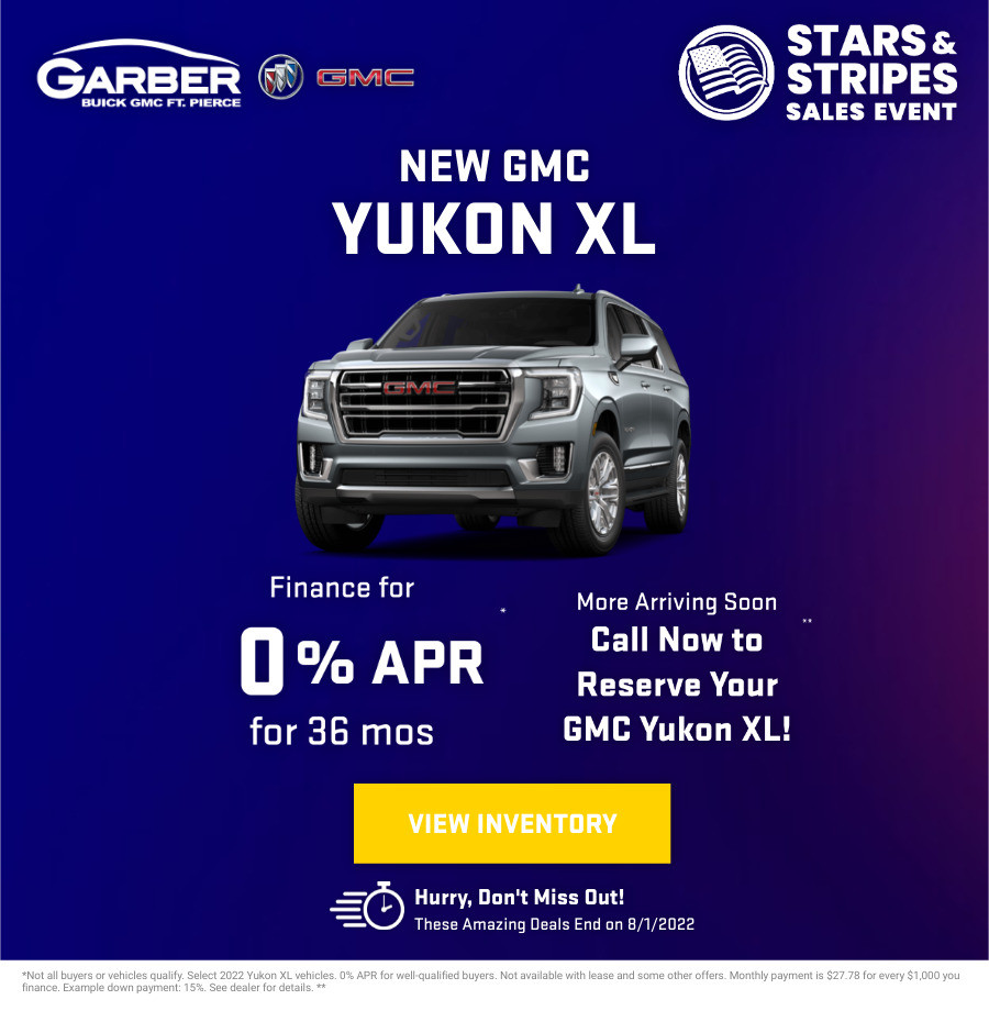 New GMC Yukon xl Current Deals and Offers in Fort Pierce, FL