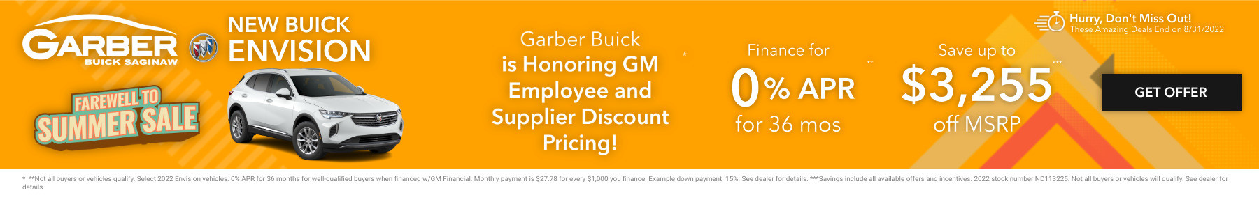New Buick Envision Current Deals and Offers in Saginaw, MI