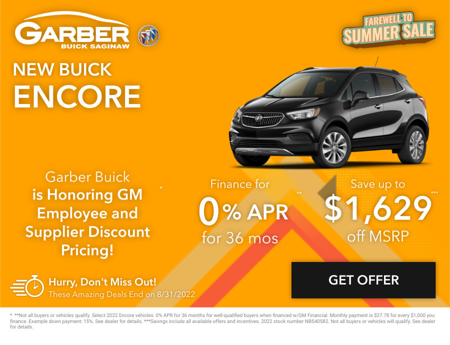 New Buick Encore Current Deals and Offers in Saginaw, MI