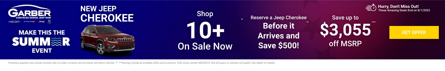 New Jeep Cherokee Current Deals and Offers in Saginaw, MI