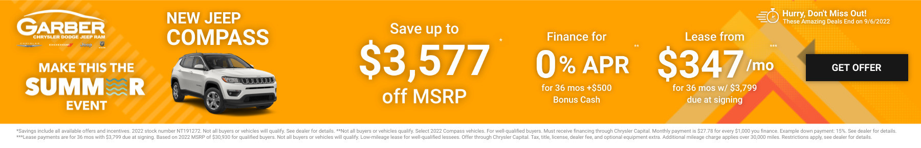 New Jeep Compass Current Deals and Offers in Saginaw, MI
