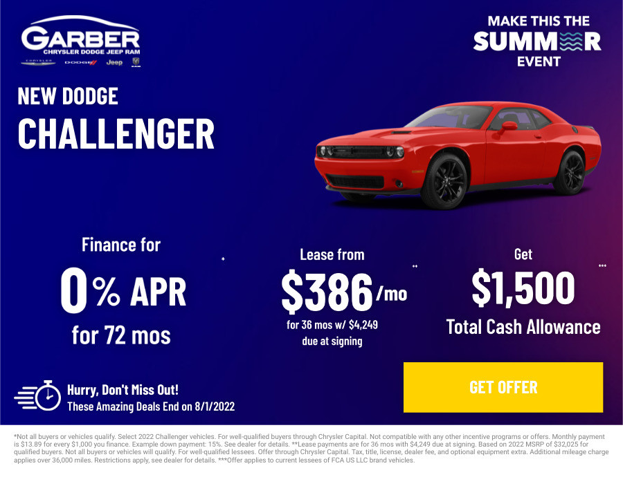 New Dodge Challenger Current Deals and Offers in Saginaw, MI