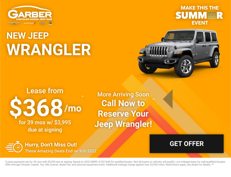 New Jeep Wrangler Current Deals and Offers in Saginaw, MI