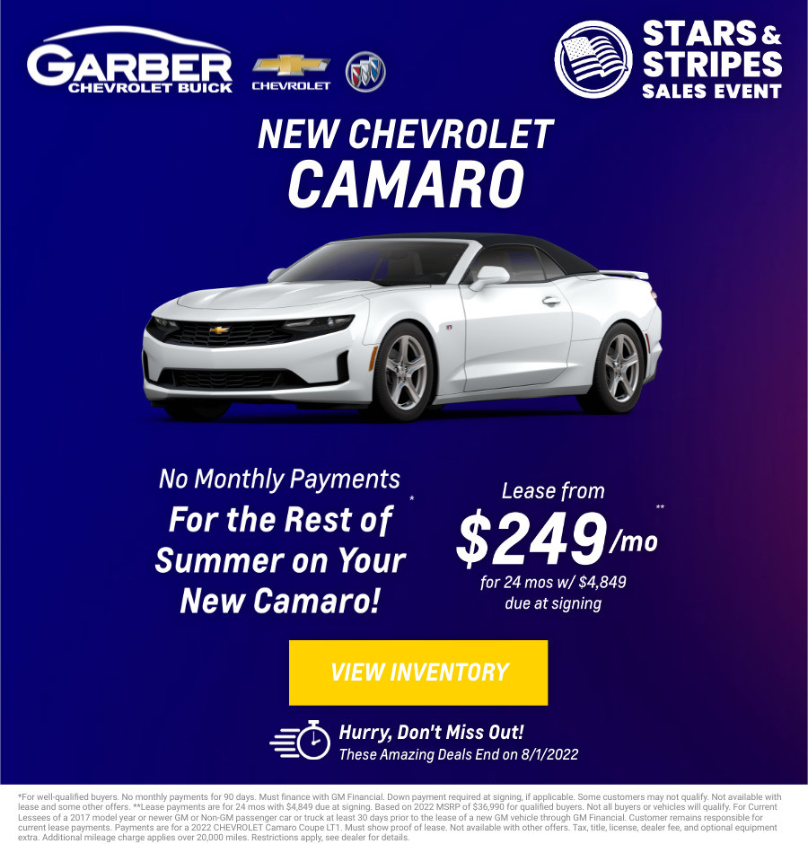 New Chevrolet Camaro Current Deals and Offers in Chesaning, MI