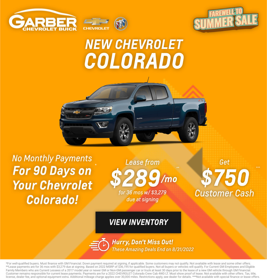 New Chevrolet Colorado Current Deals and Offers in Chesaning, MI