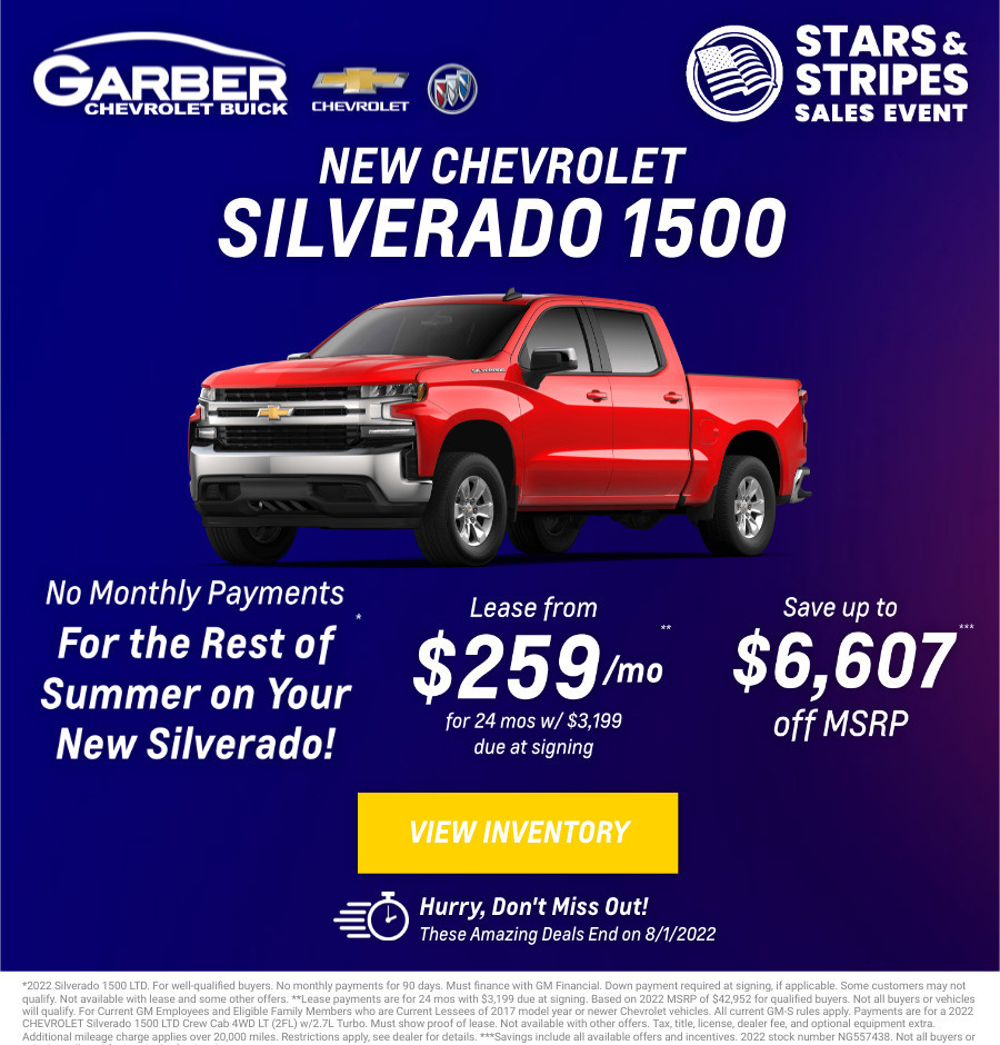 New Chevrolet Silverado Current Deals and Offers in Chesaning, MI