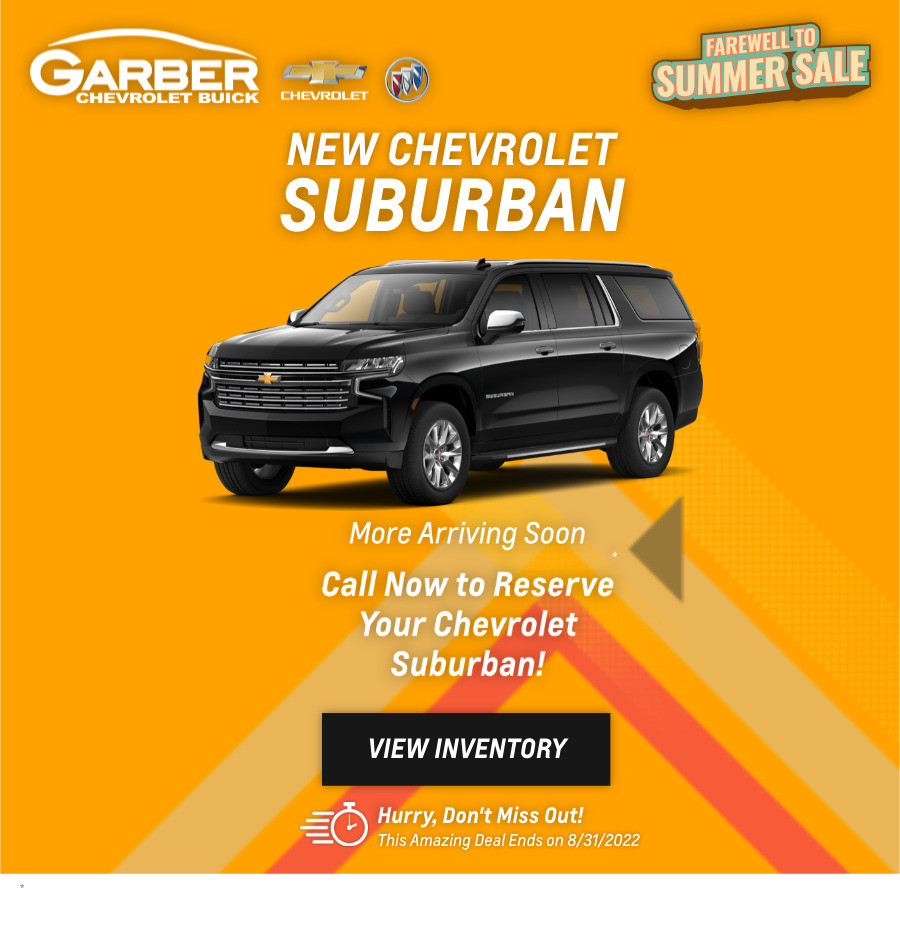 New Chevrolet Suburban Current Deals and Offers in Chesaning, MI