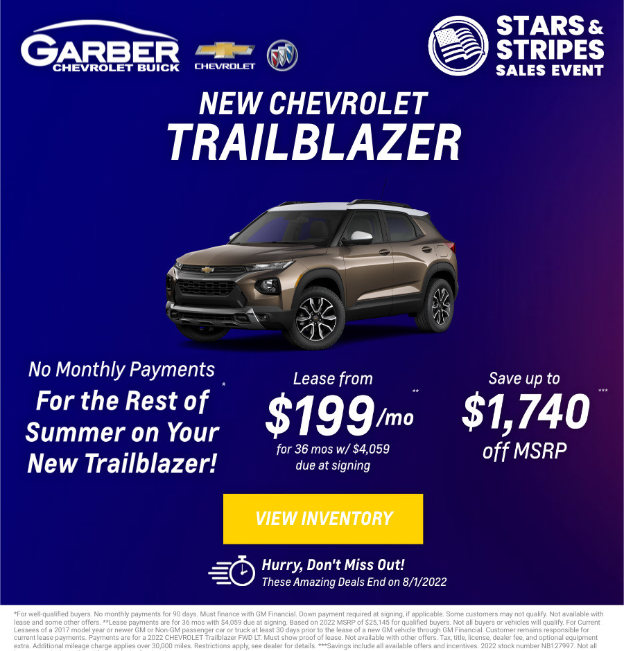 New Chevrolet Trailblazer Current Deals and Offers in Chesaning, MI