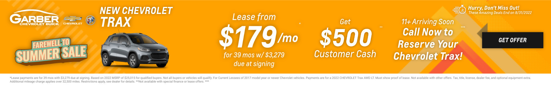 New Chevrolet Trax Current Deals and Offers in Chesaning, MI