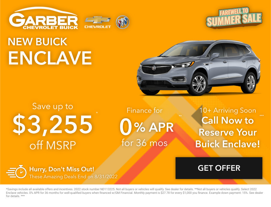 New Buick Enclave Current Deals and Offers in Chesaning, MI