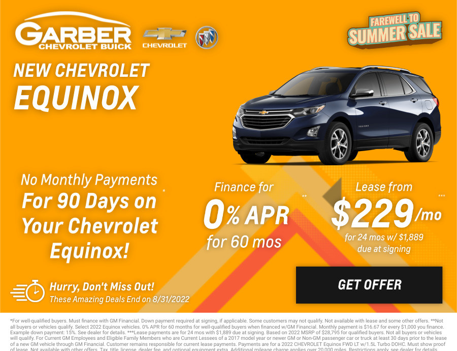 New Chevrolet Equinox Current Deals and Offers in Chesaning, MI