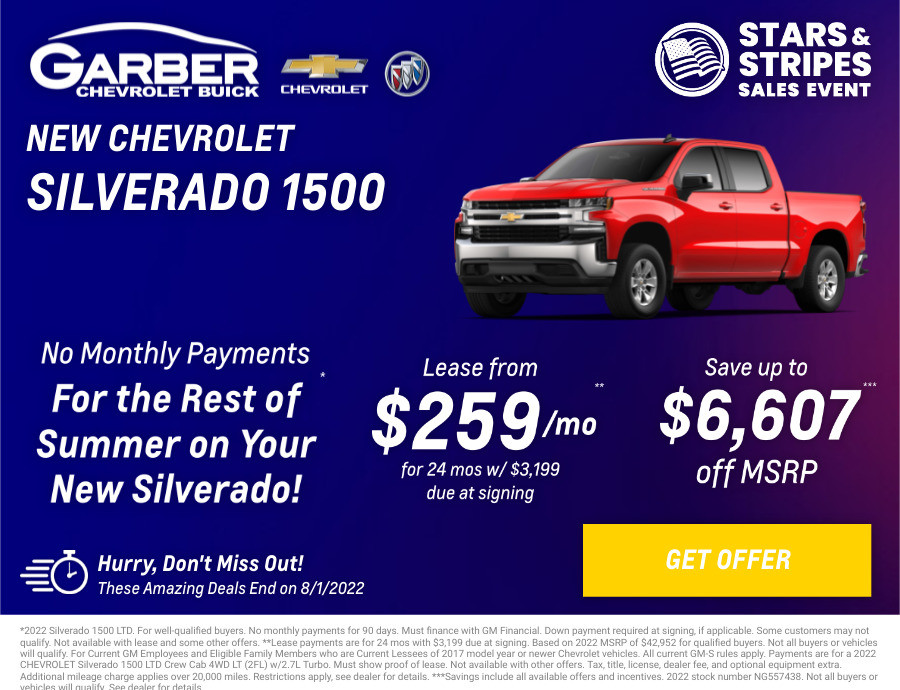New Chevrolet Silverado 1500 Current Deals and Offers in Chesaning, MI