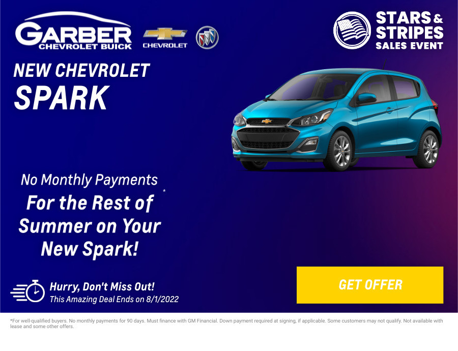 New Chevrolet Spark Current Deals and Offers in Chesaning, MI